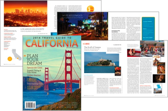 2014 Travel Guide to California - J. Yau articles featured